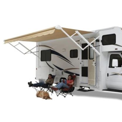 Picture of Carefree Fiesta Bordeaux Vinyl 15'L X 8'Ext Adj Pitch Spring Assist Patio Awning EA158B00 00-0839