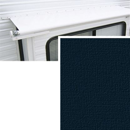 """Picture of Carefree  11' 9"""" w/ 42"""" Ext Solid Black Denim Vinyl Slide Out Awning Fabric DG1416242 00-1446"""