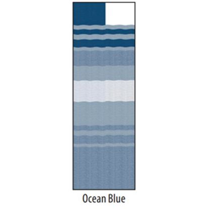 "Picture of Carefree  13' 2"" Ocean Blue Dune Stripe w/ W WG Vinyl Patio Awning Fabric JU148E00 00-1635"