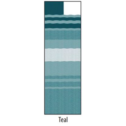 "Picture of Carefree  14' 2"" Teal Dune Stripe w/ W WG Vinyl Patio Awning Fabric JU158C00 00-1648"