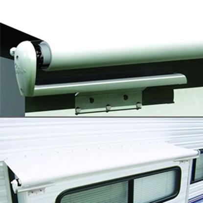 """Picture of Carefree Slideout Cover (TM) Solid White Vinyl 114-121"""" Roof X 42""""Ext Power Slide-Out Awning LH1210042 00-7939"""