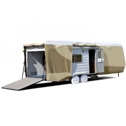"""Picture of ADCO Tyvek (R) Plus Gray Polypropylene Cover For 20' 1""""-24' Toy Haulers 34872 01-0146"""