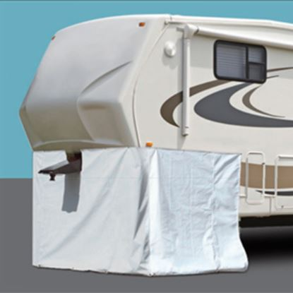 """Picture of ADCO  236""""L X 64""""H Polar White Vinyl Snap Mount Fifth Wheel Skirt 3501 01-1023"""