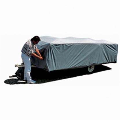 """Picture of ADCO SFS AquaShed (R) Gray Polypropylene Cover For 10' 1""""-12' Folding/Pop Up Trailers 12292 01-1139"""