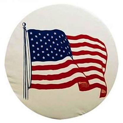 """Picture of ADCO  29"""" Size F Flag Spare Tire Cover 1785 01-1848"""