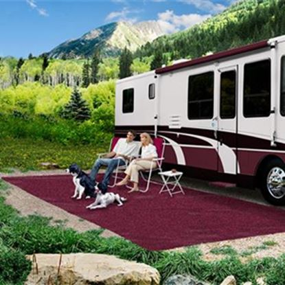 Picture of Prest-o-Fit  8' x 20' Burgundy Wine Camping Mat 2-1174 01-3012