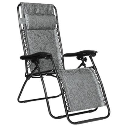Picture of Camco  Black Swirl Zero Gravity Folding Chair 51810 03-3605