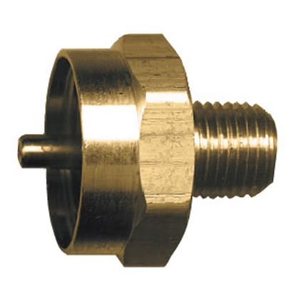 "Picture of JR Products  1""- 20 FCT x 1/4"" MPT LP Adapter Fitting 07-30185 06-0072"
