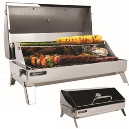 Picture of Camco Olympian  6500 Rectangular Stainless Steel LP Barbeque Grill 57245 06-0085
