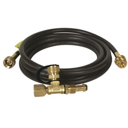 Picture of Camco  Brass LP Tee w/ 3 Ports & 12' Hose 59103 06-0484