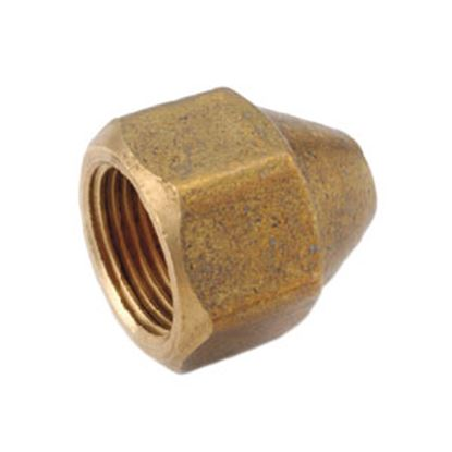 "Picture of Anderson Metal LF 7441S Series 5/8""-18 Brass Fresh Water Lead Free Short Fitting Nut 704014-06 06-1210"