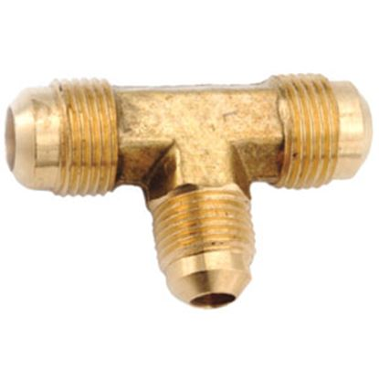 "Picture of Anderson Metal LF 7404 Series 1/2"" OD Tube 45 Deg SAE Flare Brass Fresh Water Tee 704044-08 06-1234"
