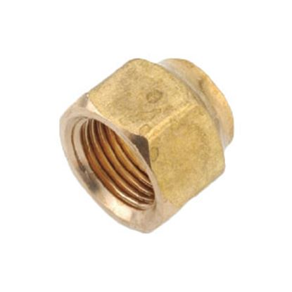 "Picture of Anderson Metal LF 7110 Series 1/2"" MPT x 1/4"" FPT Brass Fresh Water Straight Fitting 706110-0804 06-1315"