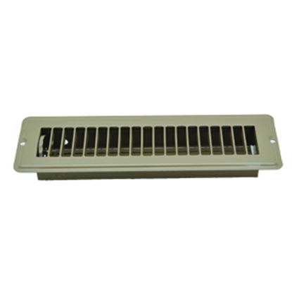 """Picture of AP Products  Brown 2-1/4""""W x 10""""L Floor Heating/ Cooling Register w/Damper 013-641 08-0159"""