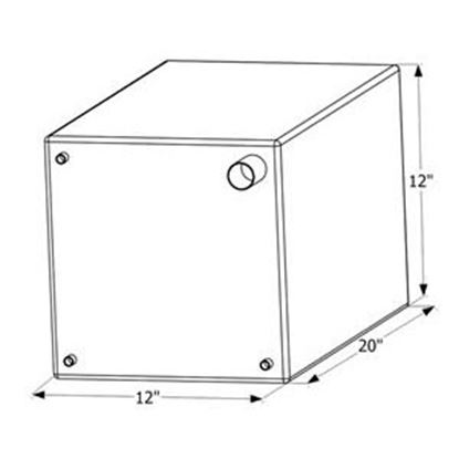 """Picture of ICON  20"""" x 12"""" x 12"""" 12 Gal Fresh Water Tank w/ Fittings 12470 10-1624"""