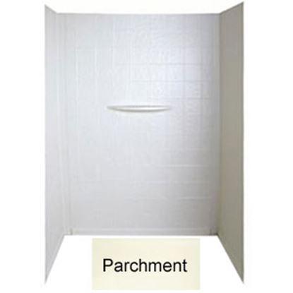 """Picture of Better Bath  1-Piece Parchment 24""""L x 36""""W x 62""""H Shower Surround 209463 10-1781"""