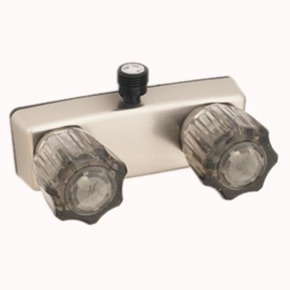 "Picture of Empire Brass  4"" Nickel Plated Plastic Shower Valve w/Smoke Knobs U-YCJW53VBN 10-2341"