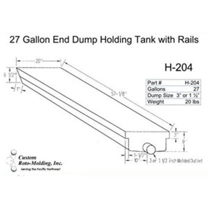 Picture of Custom Roto Molding  27 Gal End Dump Polyethylene Waste Holding Tank H-204 11-1025