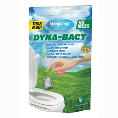 "Picture of Monochem  12-Pack Dyna""Bact"" Bio Toss-Ins Holding Tank Treatment 30807 13-0289"