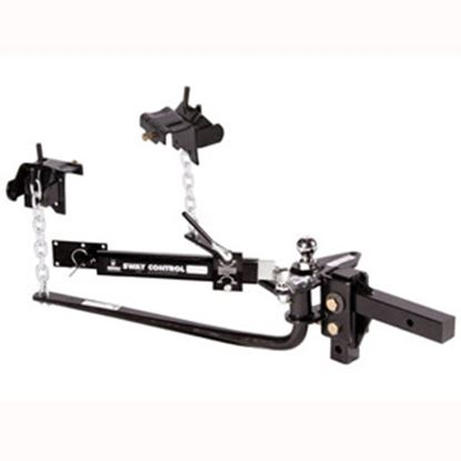 """Picture of Husky Towing  1200 Lb Round Bar Weight Distribution Hitch w/10"""" Shank & 2-5/16"""" Ball 30849 14-1256"""