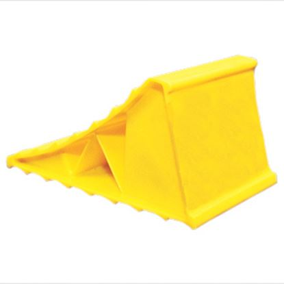 Picture of Camco  Single Yellow Hard Plastic Wheel Chock 44432 15-0254