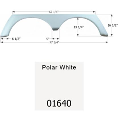 Picture of Icon  Polar White Tandem Axle Fender Skirt For Alpenlite Brands 01640 15-1634