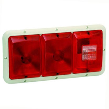 """Picture of Bargman 84 Series Red 14-1/16""""x6-15/16""""x1-1/4"""" Tail Light 30-84-002 18-0054"""