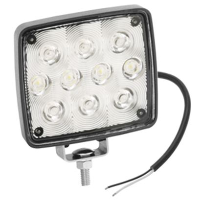 "Picture of Bargman  4"" x 4"" x 1-1/2"" Rectangular 10W LED Work Light w/Aluminum Housing 54209-002 18-0691"