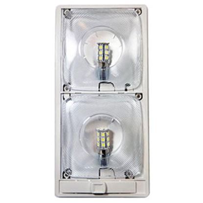 Picture of Arcon  Bright White LED Ceiling Double Interior Light w/Clear Lens 20668 18-0841
