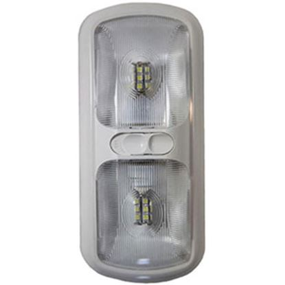 Picture of Arcon  Bright White 12V LED Ceiling Double Interior Light w/Clear Lens 20670 18-0843