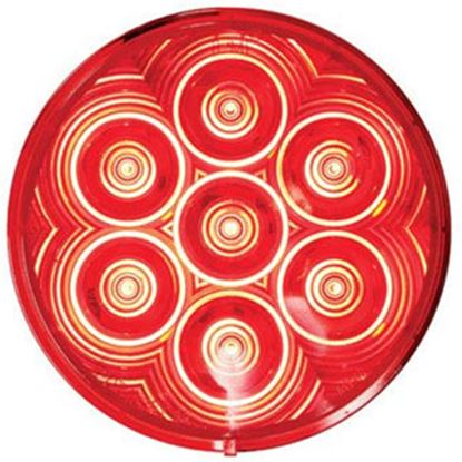 """Picture of Peterson Mfg.  Red 4"""" LED Stop/Turn & Tail Light Kit V826KR-7 18-1567"""