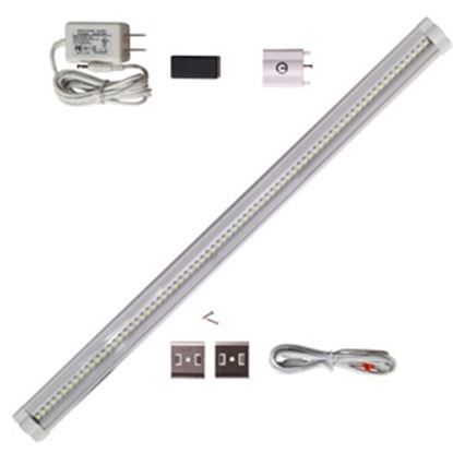 "Picture of Diamond Group  Single 18""Lx3""Wx1-1/5""D White 0.21 Amps/ 12 Volts Under Counter LED Light w/Switch 52631 18-5029"