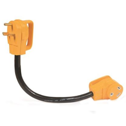 "Picture of Camco Power Grip (TM) 18"" 30A Extension Cord w/Plug Head Handle 55205 19-0486"