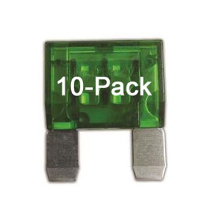 Picture of Battery Doctor  10-Pack 30A Maxi Green Blade Fuse 24530-10 19-3591