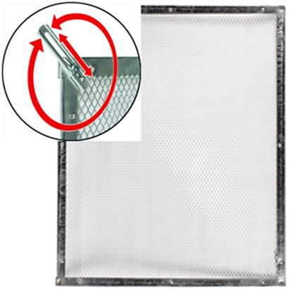 "Picture of Camco  20"" To 29"" Raw Aluminum Standard Screen Door Grille 43980 20-0092"
