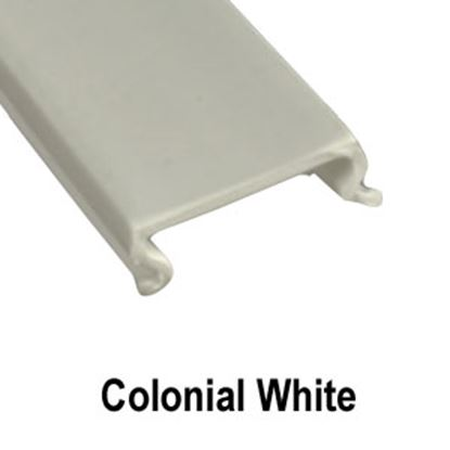 "Picture of AP Products  5-Pack Colonial White Plastic 5/8""W X 8'L Trim Molding Insert 011-358-5 20-1548"