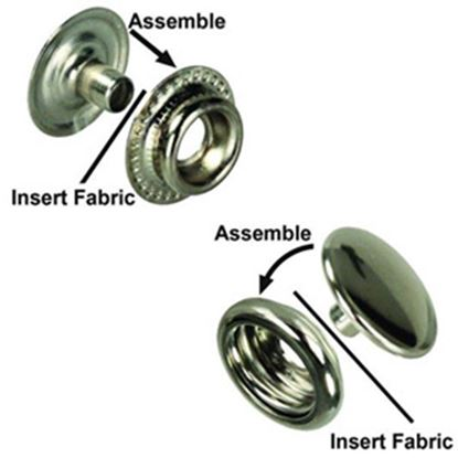 Picture of JR Products  6-Pack Snap In Twist Fastener 81575 20-1935