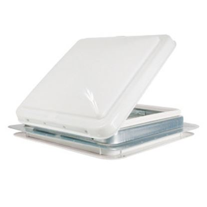 """Picture of Camco  White 14""""x14"""" Aluminum Frame Roof Vent 40480 22-0060"""