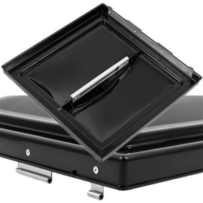 """Picture of Camco  Black Polypropylene 14"""" x 14"""" Jenson Style Roof Vent Lid 40174 22-0423"""