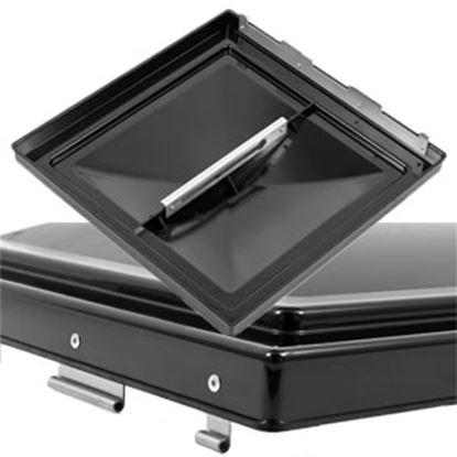 """Picture of Camco  Black Polycarbonate 14"""" x 14"""" Jenson Style Roof Vent Lid 40175 22-0428"""