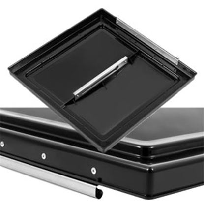 """Picture of Camco  Black Polypropylene 14"""" x 14"""" Ventline Style Roof Vent Lid 40177 22-0430"""