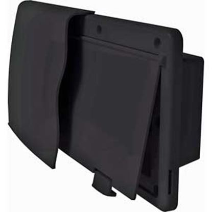 """Picture of JR Products Endura Black 12-9/16""""W X 5-7/8""""H X 1-1/2"""" Flange Wall Vent 50045 22-0678"""