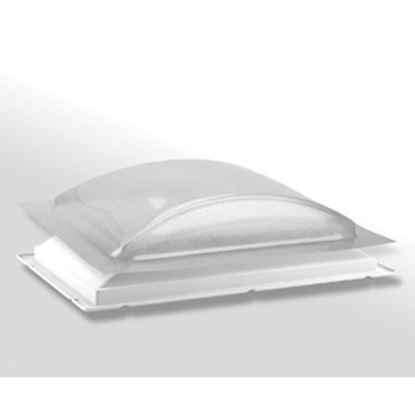 """Picture of Specialty Recreation  1-1/2""""H Bubble Dome Rectangular Ice/White Polycarbonate Skylight K1422ELP 22-0812"""