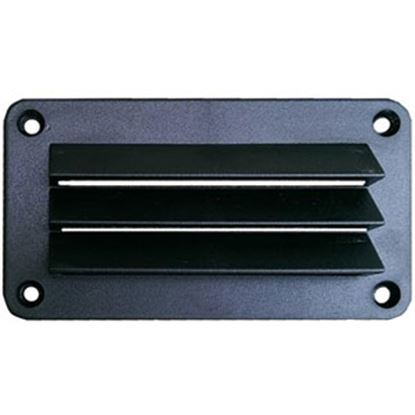 "Picture of Leisure Time  Black ABS 3""L X 5""W Rectangular Wall Vent w/ Fixed Louvers DV35B 22-3550"
