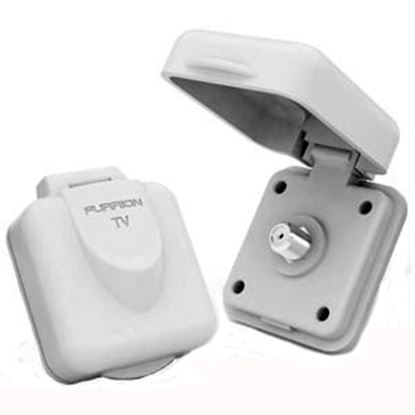 Picture of Furrion  White Single Square Outdoor Receptacle 381609 55-0417