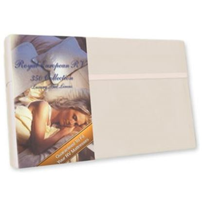 """Picture of Custom Recreation  Champagne Mist 350 TC 60"""" x 75"""" Short Queen Bed Sheet RV60X75/CM 69-1182"""
