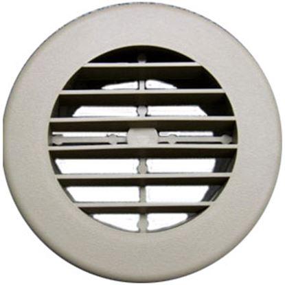 "Picture of D&W INC.  Black 4"" Round 360 Deg Rotation Heating/ Cooling Register w/o Damper 3940BK 69-1282"