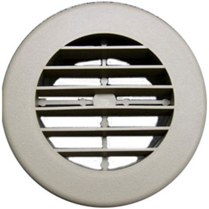 """Picture of D&W INC.  Beige 4"""" Round 360 Deg Rotation Heating/ Cooling Register w/o Damper 3940DB 69-8748"""