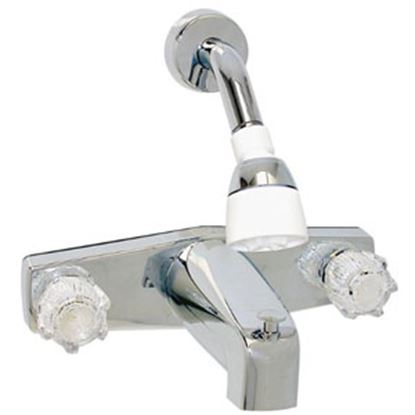 """Picture of Phoenix Faucets  Chrome w/Clear Knobs 8"""" Lavatory Faucet PF214349 69-9476"""