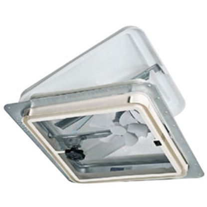 "Picture of Ventline  White 14.25""x14.25"" Polypropylene Frame Roof Vent w/Fan V2094-501-00 71-0019"